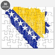 Bosnia And Herzegovina Flag And Map Puzzle