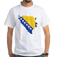 Bosnia And Herzegovina Flag And Map Shirt