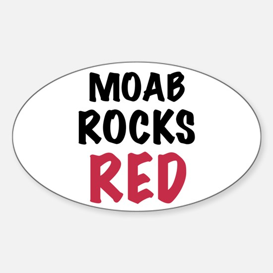 Moab rocks red Sticker (Oval)