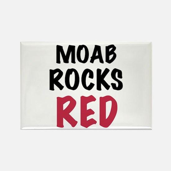 Moab rocks red Rectangle Magnet