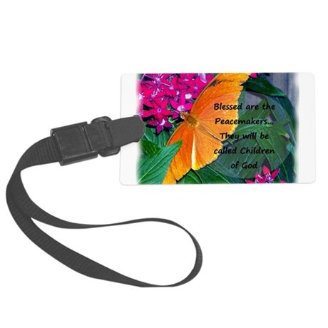 Peacemaker Butterfly Large Luggage Tag