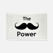 The moustache power Rectangle Magnet (10 pack)