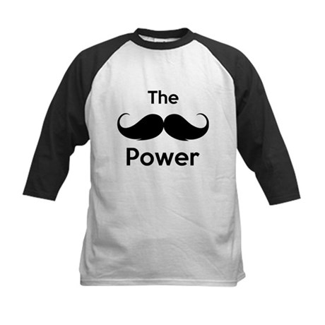 The moustache power Kids Baseball Jersey
