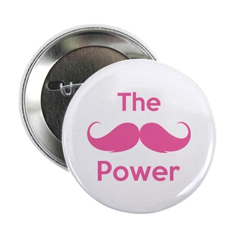 "The moustache power 2.25"" Button (10 pack)"
