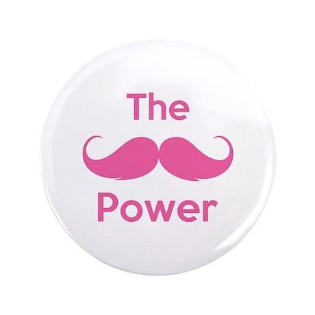 """The moustache power 3.5"""" Button"""