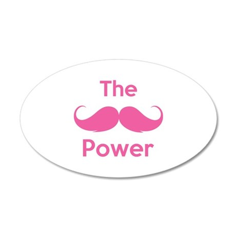The moustache power 22x14 Oval Wall Peel