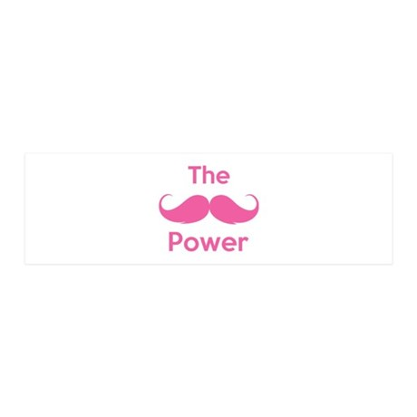 The moustache power 42x14 Wall Peel