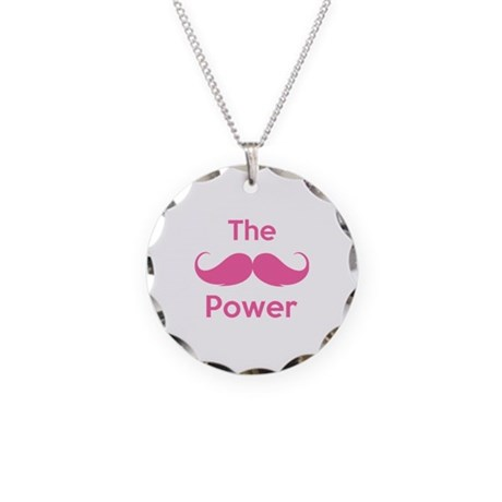 The moustache power Necklace Circle Charm