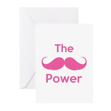 The moustache power Greeting Cards (Pk of 10)