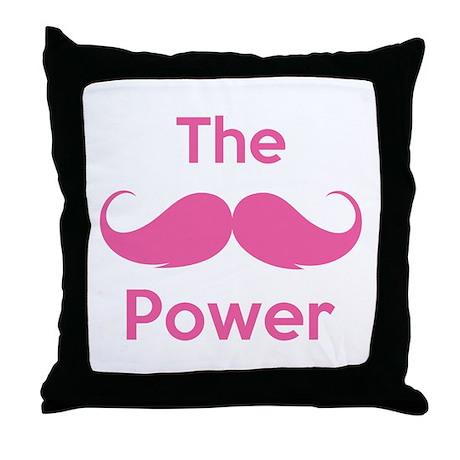 The moustache power Throw Pillow
