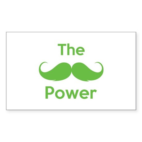 The moustache power Sticker (Rectangle)