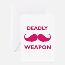 Deadly weapon Greeting Card