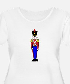 Toy Soldier in Red and Blue Women's Plus Scoop T