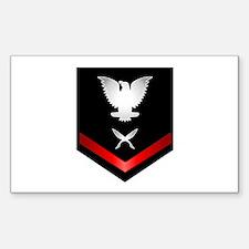 Navy PO3 Yeoman Sticker (Rectangle)