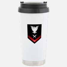 Navy PO3 Yeoman Travel Mug