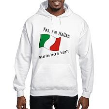 Italian Calm Black Letters Hoodie
