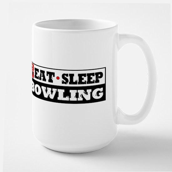 Eat Sleep Bowling Large Mug