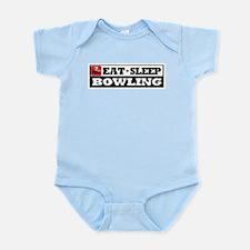 Eat Sleep Bowling Infant Bodysuit