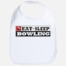 Eat Sleep Bowling Bib