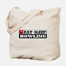Eat Sleep Bowling Tote Bag