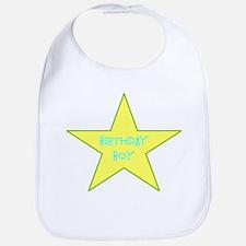 Birthday Boy Star Design Bib