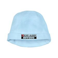 Eat Sleep Diving baby hat