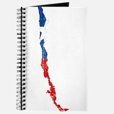 Chile Flag And Map Journal