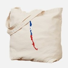 Chile Flag And Map Tote Bag