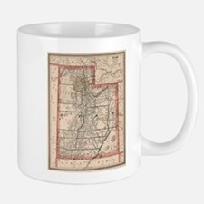 Vintage Map of Utah (1883) Mugs