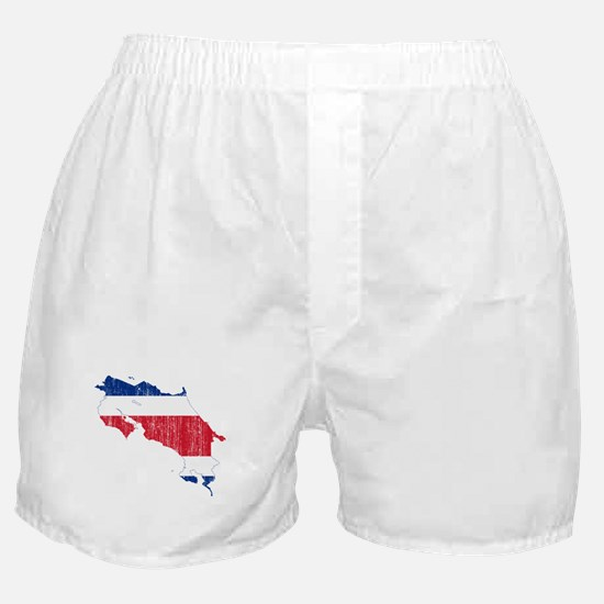 Costa Rica Flag And Map Boxer Shorts