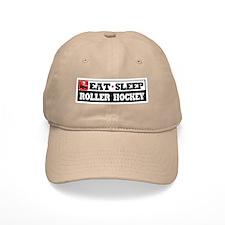 Eat Sleep Roller Hockey Baseball Cap