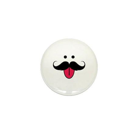 Funny moustache face Mini Button (10 pack)