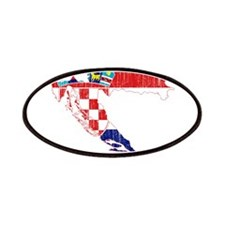 Croatia Flag And Map Patches