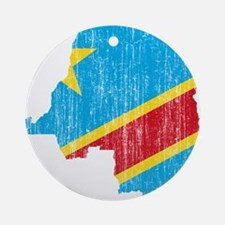Democratic Republic Of The Congo Flag And Map Orna