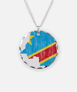 Democratic Republic Of The Congo Flag And Map Neck