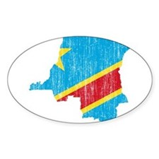 Democratic Republic Of The Congo Flag And Map Stic