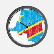 Democratic Republic Of The Congo Flag And Map Wall