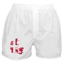 Denmark Flag And Map Boxer Shorts