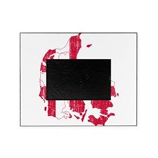Denmark Flag And Map Picture Frame