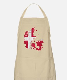 Denmark Flag And Map Apron