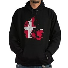 Denmark Flag And Map Hoodie