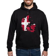 Denmark Flag And Map Hoody