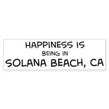 Solana Beach - Happiness Bumper Bumper Sticker