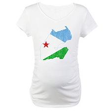 Djibouti Flag And Map Shirt