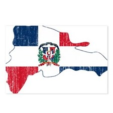 Dominican Republic Flag And Map Postcards (Package