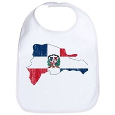 Dominican Republic Flag And Map Bib