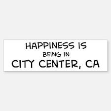 City Center - Happiness Bumper Bumper Bumper Sticker