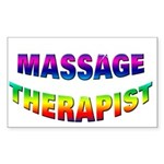 Rainbow Massage Rectangle Sticker