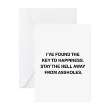 Key To Hapiness Greeting Card