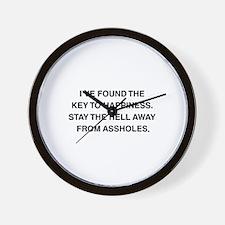 Key To Hapiness Wall Clock